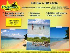 Full Day a Isla Larga, Parque Nacional San Esteban  #PlayasDeVenezuela #IslaLarga #ParqueNacionalSanEsteban #Venezuela #PasoboTours #RecorriendoVenezuela #TurismoEnVenezuela #VenezuelaEsBella