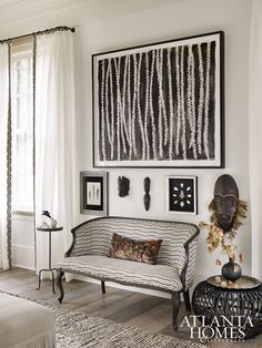 CLOTH & KIND // Press: Atlanta Homes & Lifestyles' Serenbe Showhouse, Lakeside Luxe. Ethno Design, Design Design, Design Ideas, House Design, African Interior Design, Global Decor, African Home Decor, Atlanta Homes, Home And Deco
