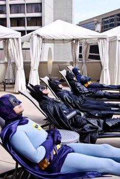 """""""Holy sunbathing Batmen, Batman!"""""""