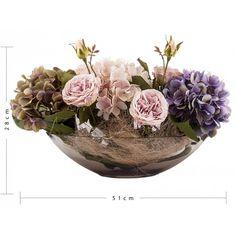 Nişan ve Söz Ortanca Yatay Cam Vazo Tanzim Çiçek