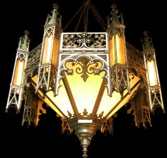 I love intricate Moroccan style lanterns! This one has an exquisite gothic twist to it