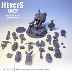 Welcome Umrigg Hornbane - dwarf fighter first of this months rewards on our patreon . or you can already get him in our etsy store Time to swap minis !!!!!! links in bio www.heroesandbeasts.com #3dprinting #3dprinter #3dprinted #fantasytabletop #dnd #dndminiatures #tabletoprpg #miniature #miniaturepainting #patreon #patreonartist #myminifactory #phrozen #resin3dprinter #resin3dprinting #shapeways #3dmodel #sla3dprinter #kickstarter Dwarf Fighter, Dungeons And Dragons Characters, Tabletop Rpg, Etsy Store, Minis, Beast, Miniatures, Hero, Fantasy
