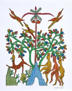 Tree of Life - Gond art of India