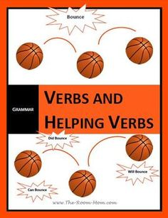 Action Verbs and Helping Verbs Activities-- find main verbs, then add an easy way to memorize helping verbs, then locate complete verb ($), #grammar