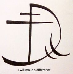 """I will make a difference"" sigil requested by anonymous Rune Symbols, Magic Symbols, Symbols And Meanings, Ancient Symbols, Viking Symbols, Egyptian Symbols, Viking Runes, Sigil Magic, Book Of Shadows"