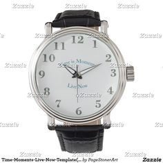 Time-Moments-Live-Now-Template(c) Silver Numbers Wristwatches