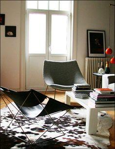 """L'appartement - Pierre Paulin, Fauteuil F675 """"Butterfly"""", Artifort 1963"""