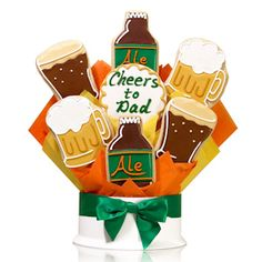 Corsos Cheers to Dad Cookie Bouquet (Prices starting at $30) Plus FREE SHIPPING! #FathersDay