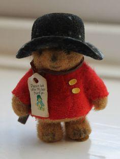 1970S MINIATURE PADDINGTON BEAR. I can remember having the very same bear