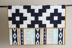 Aztec Inspired Modern Quilt // Made To Order by TheBlanketThief