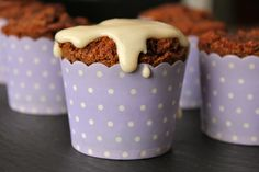 Easy small batch clean eating cinnamon roll muffins, #glutenfree