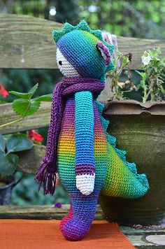 DIRK the dragon made by Alpacaca / crochet pattern by lalylala