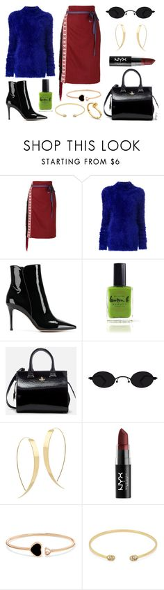 """they call her ""cool breeze"" at the office"" by gladyzjetson ❤ liked on Polyvore featuring Miahatami, Marni, Gianvito Rossi, Lauren B. Beauty, Vivienne Westwood, Lana, NYX, Chopard and Gucci"