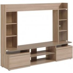 Parisot Duke TV unit with storage drawers and shelves Tv Cabinet Design, Tv Unit Design, Tv Wall Decor, Wall Decor Design, Tv Unit Furniture, Furniture Design, Home Room Design, Interior Design Living Room, Tv Storage Unit