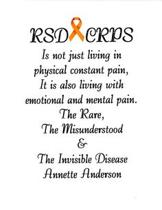 Please help spread CRPS/RSD awareness