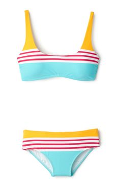 "Audrey Hepburn's beach outfit in ""Two for the Road"" inspired this playful bikini, designed by Nanette Lepore 