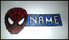 Spiderman Name Plaque by PiggysCreations.deviantart.com on @DeviantArt