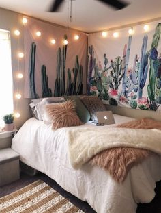Cute decorations 72 fun girl's cute bedroom ideas with cute room decor Cute Bedroom Ideas, Cute Room Decor, Bedroom Inspo, Wall Decor, Doorm Room Ideas, Room Decor Boho, Cheap Room Decor, Bedroom Retreat, Bedroom Ideas For Women Vintage