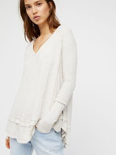 We The Free Oatmeal We The Free Laguna Thermal at Free People Clothing Boutique