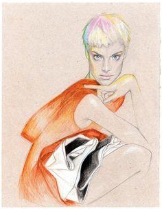 Agyness Deyn / A Magazine Fall/Winter 2007 'curated by Martine Sitbon' by Cedric Rivrain