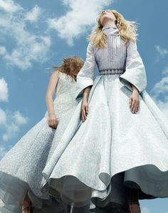 Dior Haute Couture | Maria Petrovicova and Lisa Upp by Willy Vanderperre for Dior Magazine Winter 2015