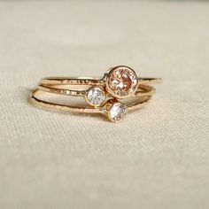Would love a set of handmade rose gold rings for Mother's Day. With my girls birthstones maybe.