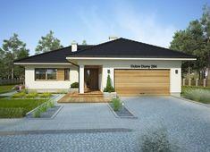 Projekt domu Oceania II 126,50 m² - koszt budowy - EXTRADOM Modern Bungalow House, Bungalow Exterior, Bungalow House Plans, House Outside Design, Simple House Design, Model House Plan, Dream House Plans, House Construction Plan, Architectural Design House Plans