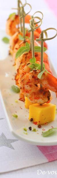 Shrimp with mango