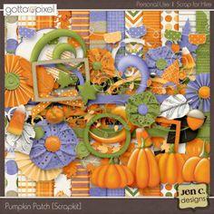 Pumpkin Patch: Digital Scrapbook Scrapkit. $5.99 at Gotta Pixel. www.gottapixel.net/