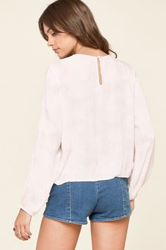 Sunset Rose Woven Top by Amuse Society