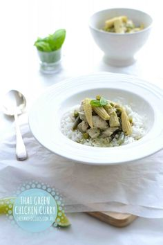 Thai Green Chicken Curry For Kids - One Handed Cooks