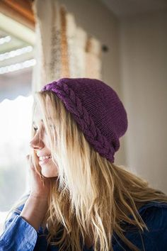 Ring of Cables Hat Pattern - Knitting Patterns and Crochet Patterns from KnitPicks.com. And it is in the right color!