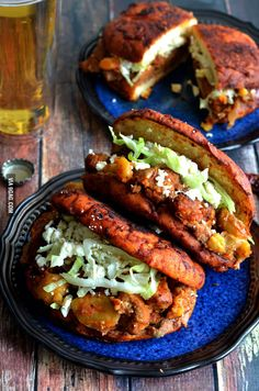 Pambazos (Mexican Salsa-Dunked Sandwiches) - filled with potatoes, chorizo sausage, and refried beans! Mexican Cooking, Mexican Food Recipes, Dinner Recipes, Ethnic Recipes, Quirky Cooking, Mexican Tortas Recipe, Authentic Mexican Recipes, Mexican Desserts, Mexican Sandwich
