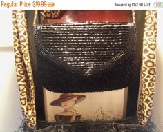 Cyber Monday Sale Vintage Black Beaded Purse by by MartiniMermaid