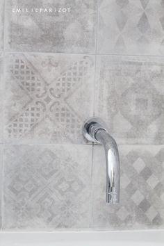 See original image Original Image, Decoration, Tiles, Bathtub, The Originals, Bathroom, Home Decor, Cement Tiles Bathroom, Solar Shower