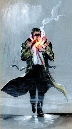 John Constantine / Hellblazer by Juan Ferreyra Constantine Hellblazer, John Constantine, Marvel Dc Comics, Marvel Heroes, Comic Character, Character Design, Mtg Altered Art, Comic Art, Comic Books
