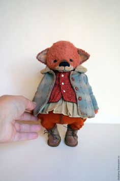Купить New - тедди лиса - коллекционная кукла, коллекционные игрушки, ручная работа handmade