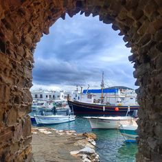 The beautiful view of the village as you leave the Venetian Fortress of Naoussa in Paros which was built in the 15th century. It was used as a watchtower for pirate and enemy attacks during wars and it was also an ideal spot to observe the Aegean Sea. What's left of it now after it was conquered by the Russians and the Ottomans is a half-submerged watchtower that is connected to the mainland by a short narrow path. This tiny village has history soul charm and amazing people who will go the…