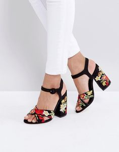 New Look Tapestry Platform Heel Sandals