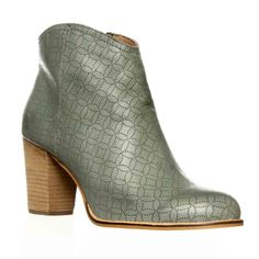 Fossil Valerie Laser Cut Ankle Bootie - Smokey Blue $69