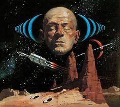 Sentinels From Space - art Vincent Di Fate (1954)