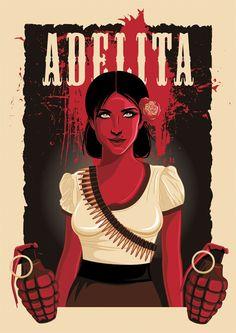 Adelita by theyellowcoyote.deviantart.com on @deviantART