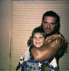 Me with British Bulldog from WWF/WWE around about 1989.