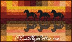 Horses at Sunset Quilt Pattern 5000-2