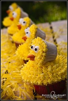 Russell Gearhart's image of Ingrid Sundberg's Big Bird Cupcakes.  Awesome Job Ingrid!  Wonderful photo Russ!