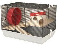 """Das Mäuse-und Hamsterheim Elmo""""M"""" ist komplett ausgestattet und bietet so ein ideales Zuhause für kleine Nager, wie z.B. Mäuse, Zwerghamster oder Gerbils."""