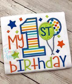 applique balloons embroidery design 6th Birthday machine embroidery balloon embroidery Spanish text L318 Balloons Applique embroidery