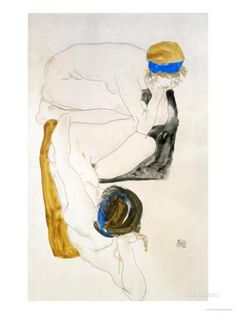 Two Reclining Figures, 1912 Giclee Print by Egon Schiele - at AllPosters.com.au