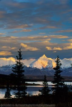 Sunset on Mount Brooks Alaska  | #travel #Alaska