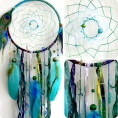 The Peacock Native Woven Dream Catcher by eenk on Etsy
